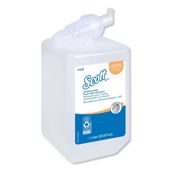 Scott Control Antimicrobial Foam Skin Cleanser, Fresh Scent, 1000Ml Bottle, 6/Ct - KCC91554CT