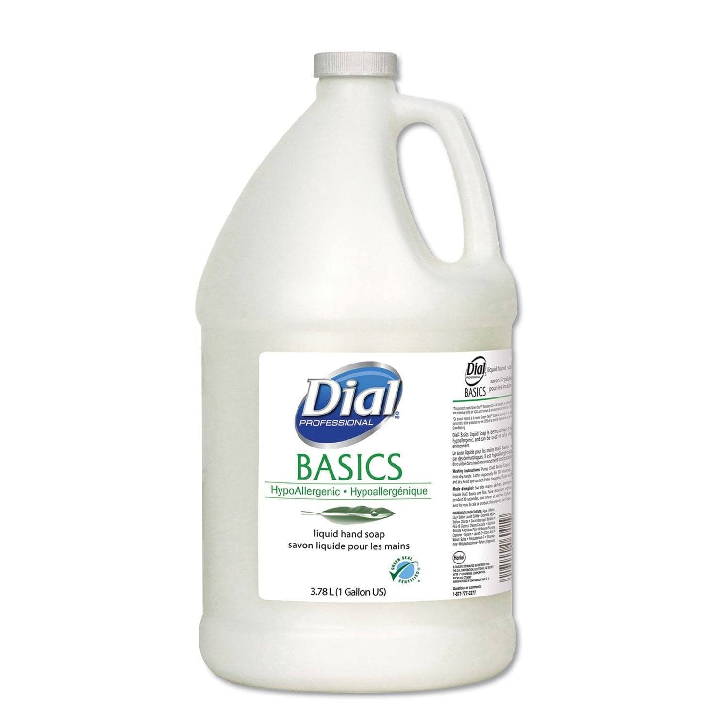 Dial Basics Liquid Hand Soap, Fresh Floral, 1 Gal Bottle - DIA06047EA - TotalRestroom.com