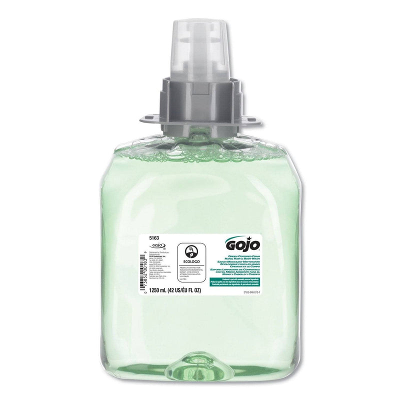 Gojo Luxury Foam Hair & Body Wash, 1250Ml Refill, Cucumber Melon Scent, 3/Carton - GOJ516303CT - TotalRestroom.com