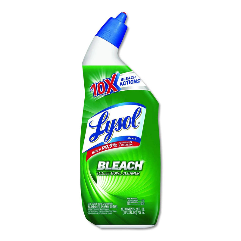 Lysol Disinfectant Toilet Bowl Cleaner With Bleach, 24 Oz, 9/Carton - RAC98014 - TotalRestroom.com
