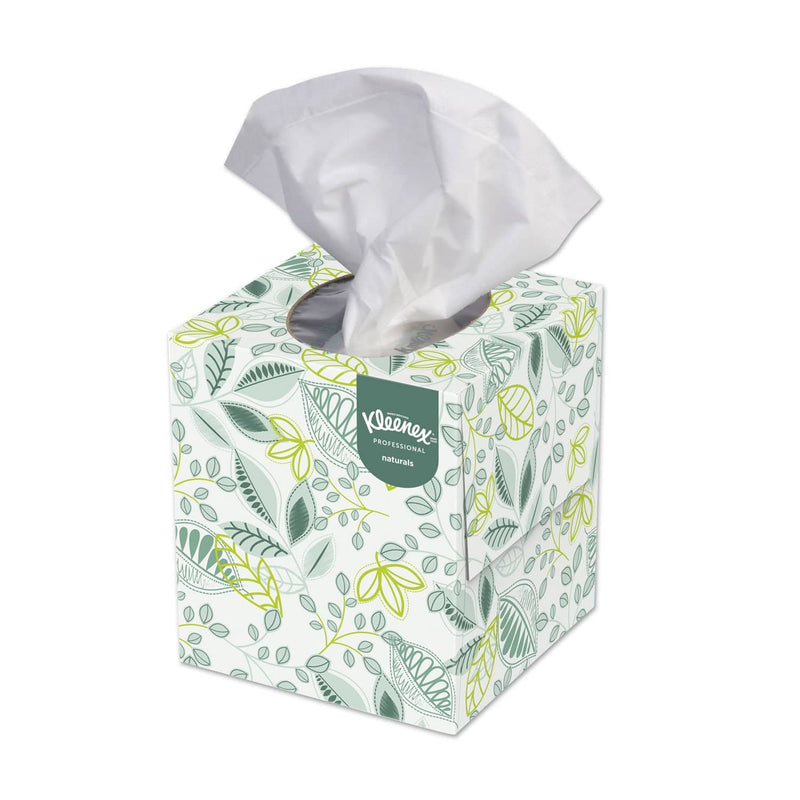 Kleenex Naturals Facial Tissue, 2-Ply, White, 95 Sheets/Box, 36 Boxes/Carton - KCC21272 - TotalRestroom.com