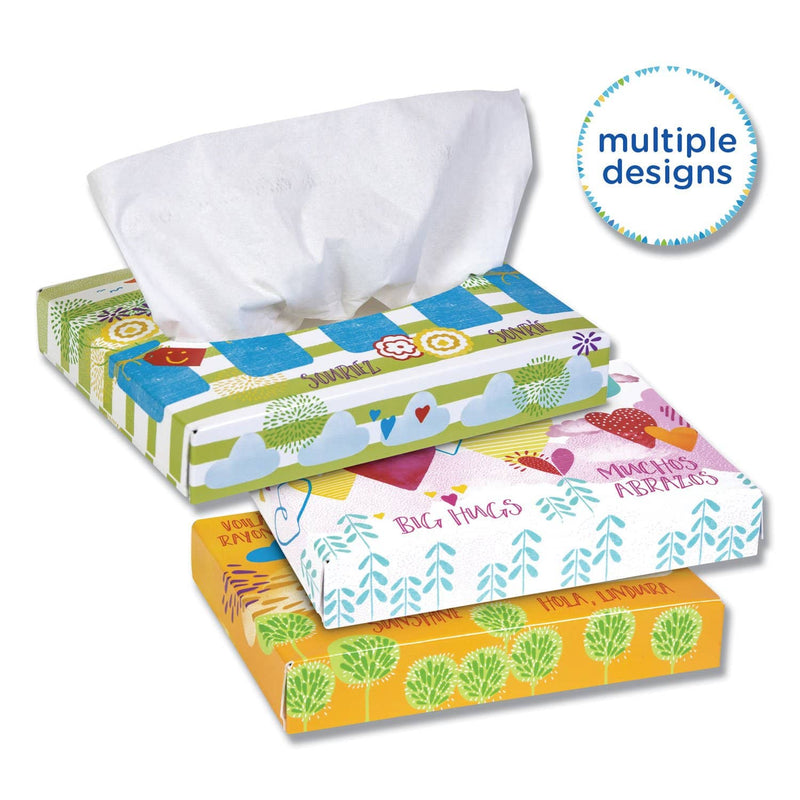 Kleenex White Facial Tissue Junior Pack, 2-Ply, 40 Sheets/Box, 80 Boxes/Carton - KCC21195 - TotalRestroom.com