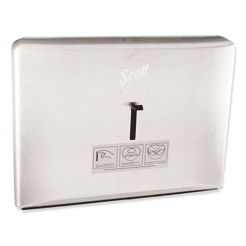 Scott Personal Seat Toilet Seat Cover Dispenser, Stainless Steel, 16.6 X 12.3 X 2.5 - KCC09512 - TotalRestroom.com
