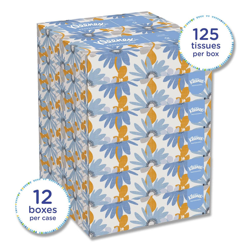 Kleenex White Facial Tissue, 2-Ply, 125 Sheets/Box, 12 Boxes/Carton - KCC03076 - TotalRestroom.com