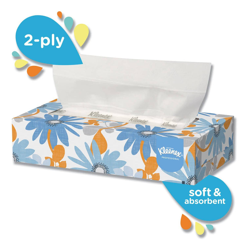 Kleenex White Facial Tissue, 2-Ply, White, Pop-Up Box, 125 Sheets/Box, 48 Boxes/Carton - KCC21606CT - TotalRestroom.com