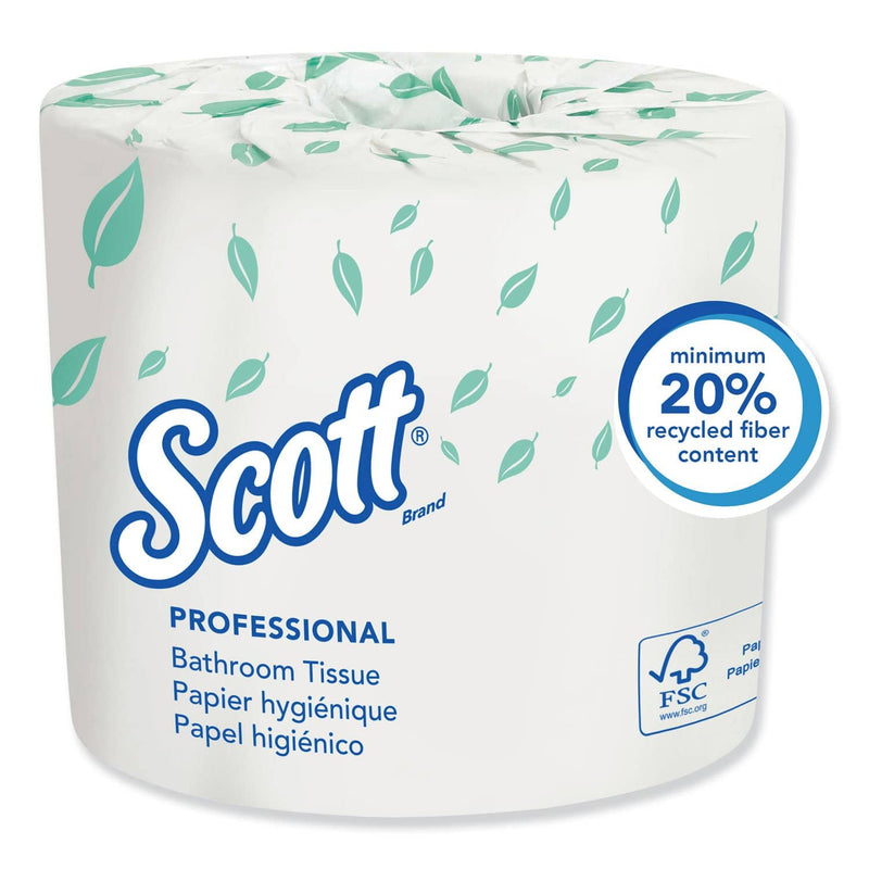 Scott Essential Standard Roll Bathroom Tissue, Septic Safe, 2-Ply, White, 550 Sheets/Roll, 80/Carton - KCC04460 - TotalRestroom.com