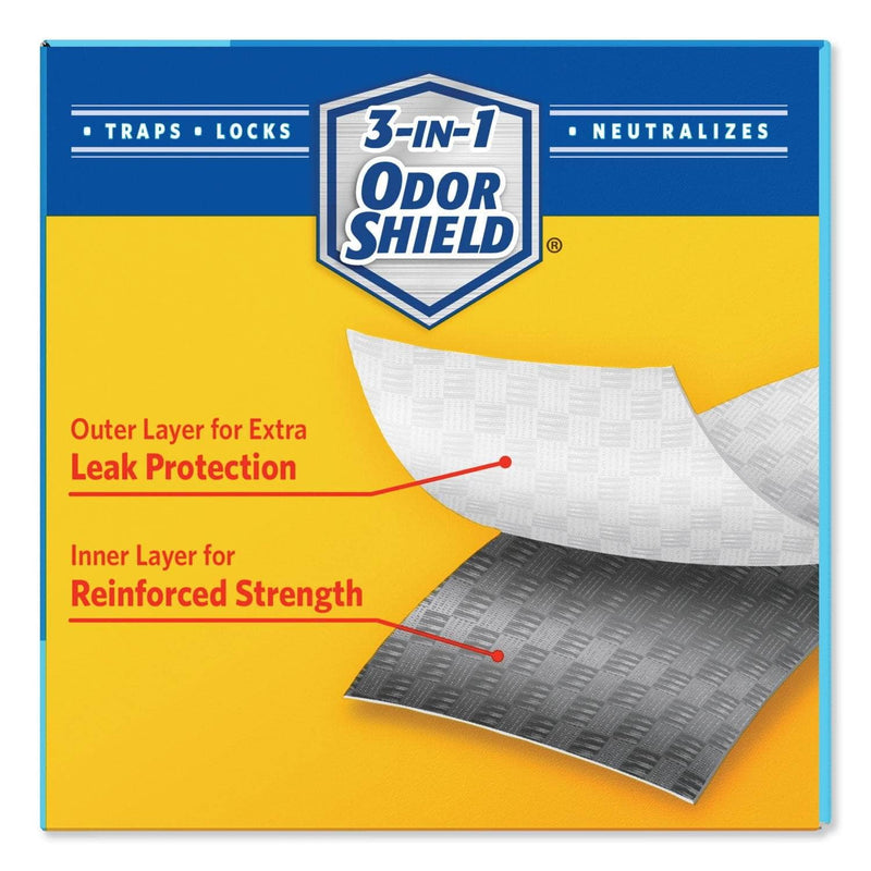 "Glad Odorshield Tall Kitchen Drawstring Bags, 13 Gal, 0.78 Mil, 24"" X 27.38"", White, 240/Carton - CLO78361 - TotalRestroom.com"
