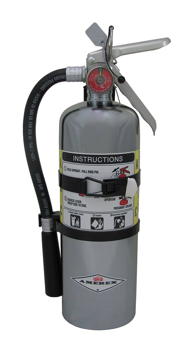 Amerex Dry Chemical Fire Extinguisher with 5 lb. Capacity a - TotalRestroom.com