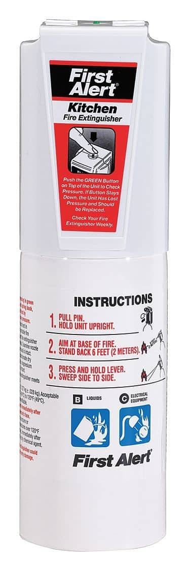 First Alert Dry Chemical Fire Extinguisher with 2 lb. Capa - TotalRestroom.com