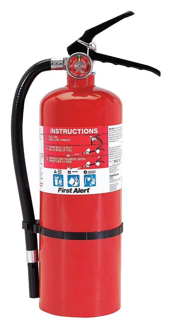 First Alert Dry Chemical Fire Extinguisher with 5 lb. Capa - TotalRestroom.com