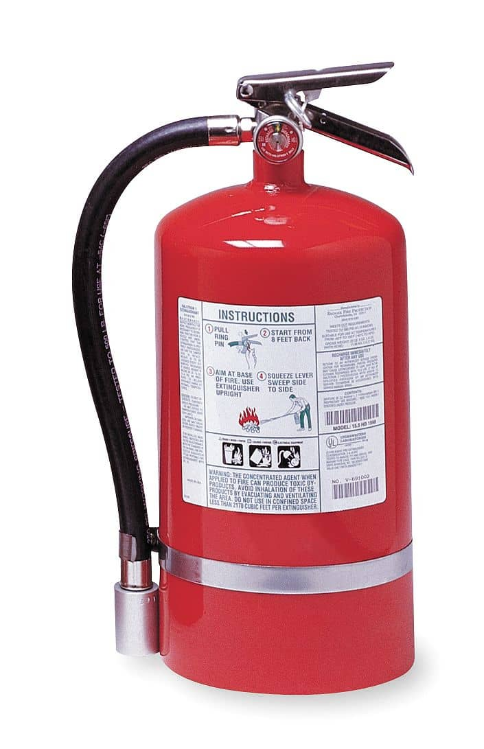 Kidde Halotron Fire Extinguisher with 15.5 lb. Capacity and - TotalRestroom.com