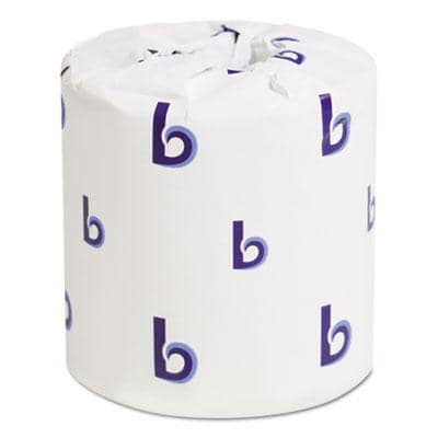Boardwalk Two-Ply Toilet Paper, Septic Safe, White, 4.5 X 3, 500 Sheets/Roll, 96 Rolls/Carton - BWK6180 - TotalRestroom.com