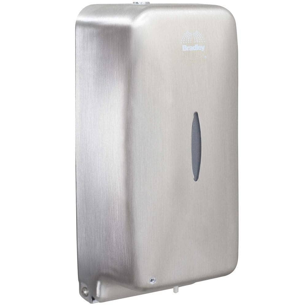 Bradley 6A00-11 Commercial Liquid Soap Dispenser, Surface-Mounted, Touch-Free, Stainless Steel - 24 Oz - TotalRestroom.com
