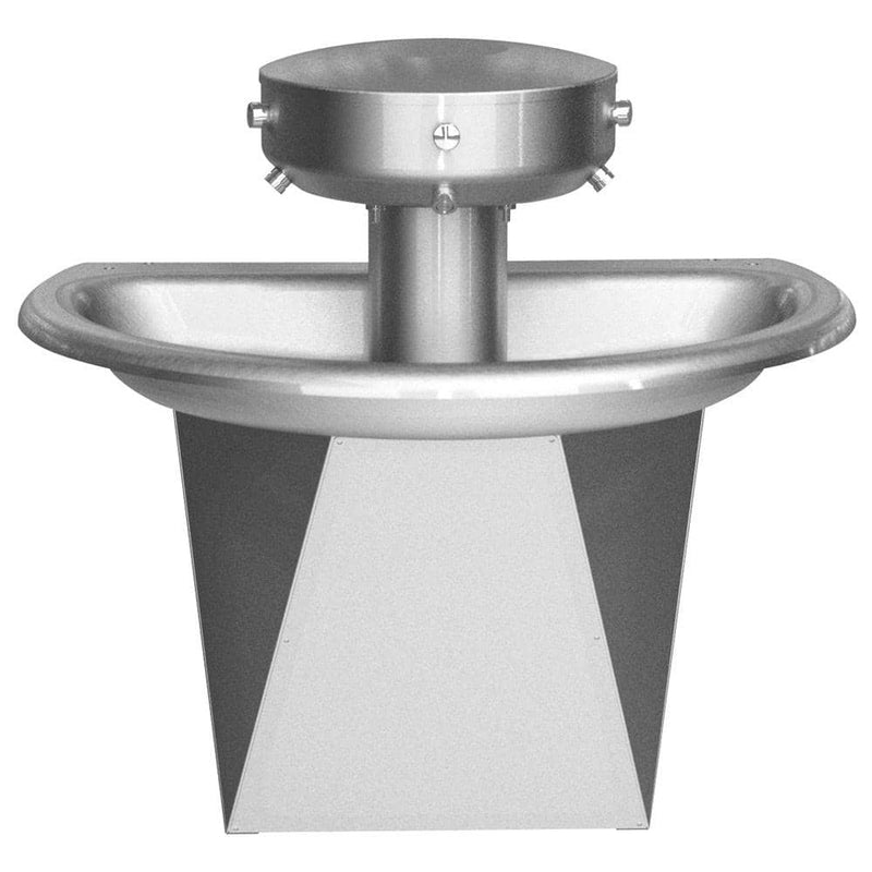 "Bradley 36"" Semi-Circular Sentry Washfountain, Infrared Activation, A Drain - SN2023 - TotalRestroom.com"