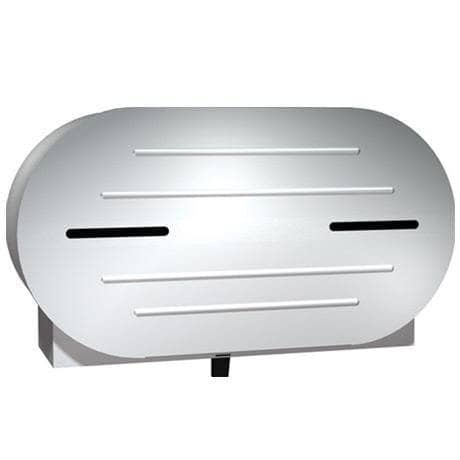 ASI 0040 Commercial Jumbo-Roll Toilet Paper Dispenser, Surface-Mounted, Stainless Steel w/ Satin Finish - TotalRestroom.com