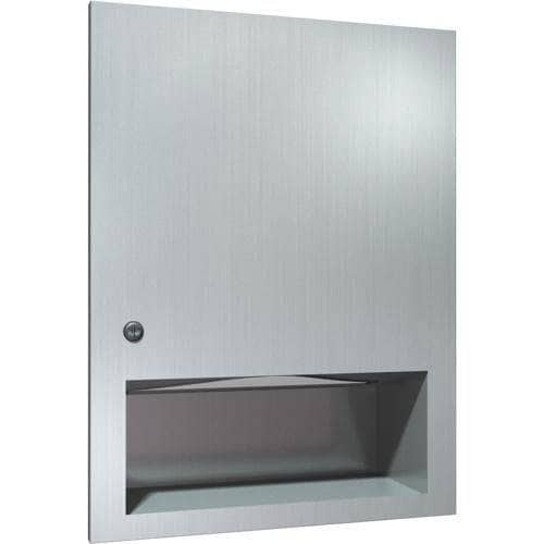 ASI 6457 Commercial Paper Towel Dispenser, Recessed-Mounted, Stainless Steel - TotalRestroom.com
