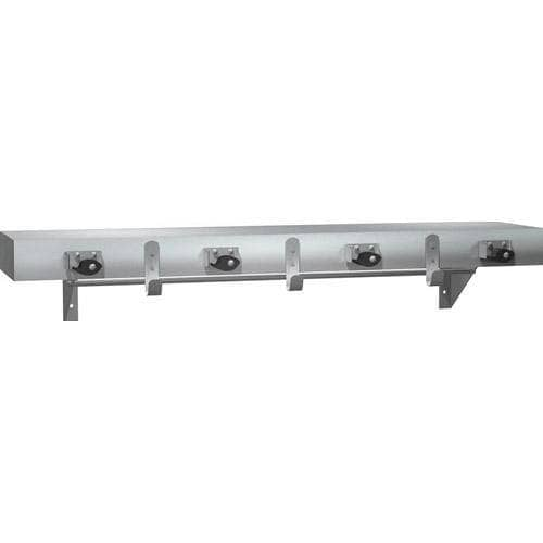 "ASI 1315-4 Commercial Utility Mop/Rag Shelf w/ Drying Rod, 36"" L x 2-1/2"" H, Stainless Steel - TotalRestroom.com"