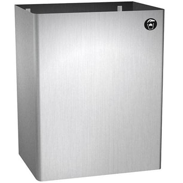 "ASI 0825 Commercial Restroom Waste Receptacle, 20 Gallon, Surface-Mounted, 15-3/4"" W x 21-7/8"" H, 11-3/4"" D, Stainless Steel - TotalRestroom.com"