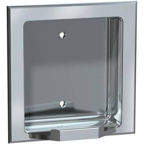 ASI 7404-SW Commercial Soap Dish, Recessed-Mounted, Manual-Push, Stainless Steel-Total Restroom
