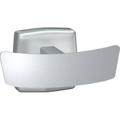 "ASI 7745-S Commercial Double Robe Hook, 34"" L x 4"" H, Stainless Steel-Total Restroom"