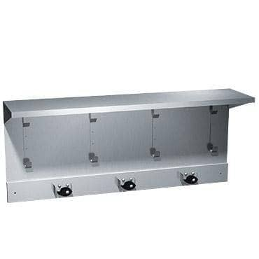 "ASI 1308-3 Commercial Utility Hook & Mop Strip Shelf, 34"" L x 14-1/2"" H, Stainless Steel-Total Restroom"