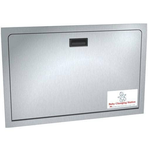 ASI 9013 Baby Changing Station, Recessed-Mounted, Stainless Steel - TotalRestroom.com