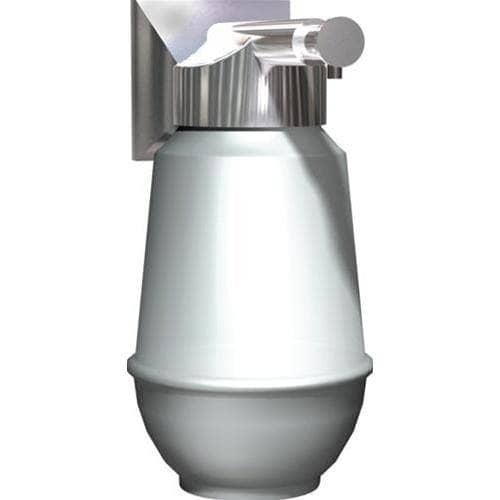 ASI 0350 Commercial Restroom Liquid Soap Dispenser, Vertical-Recessed-Mounted, Manual-Push, Stainless Steel - 16 Oz - TotalRestroom.com