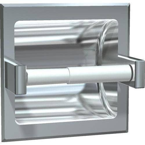 ASI 7402-BW Commercial Toilet Paper Dispenser, Recessed-Mounted, Stainless Steel w/ Satin Finish - TotalRestroom.com