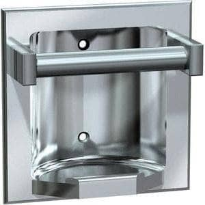 ASI 7410-S Commercial Bar Soap Dish, Recessed-Mounted, Stainless Steel w/ Satin Finish - TotalRestroom.com