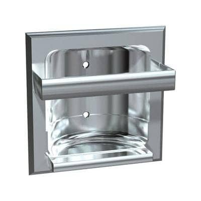 ASI 0410-Z Soap Dish, Recessed w/Round Bar, Chrome Plated Zamak