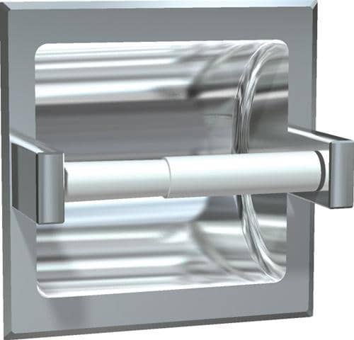ASI 7402-SD Commercial Toilet Paper Dispenser, Recessed-Mounted, Stainless Steel w/ Satin Finish - TotalRestroom.com