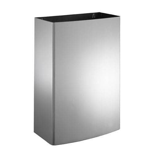 "ASI 20826 Commercial Restroom Waste Receptacle, 12 Gallon, Roval-Surface-Mounted, 15-1/8"" W x 23"" H, 8-1/2"" D, Stainless Steel - TotalRestroom.com"