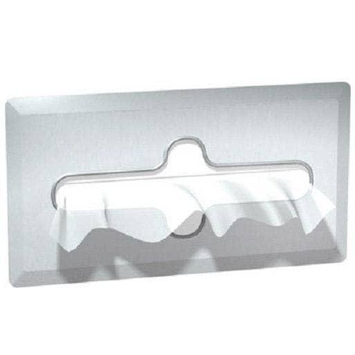 "ASI 02594-SS Facial Tissue Dispenser, 11-11/16"" L x 6-3/8"" W, Recessed-Mounted, Stainless Steel-Total Restroom"