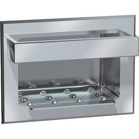 ASI 0398 Heavy-Duty Soap Dish with Bar, Recessed Surface-Mounted, Stainless Steel - TotalRestroom.com