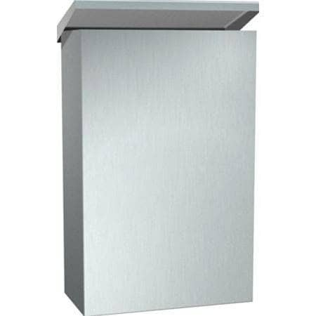 ASI 0852 Commercial Restroom Sanitary Napkin Disposal, Surface-Mounted, Stainless Steel-Total Restroom