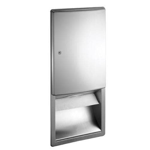 ASI 20452 Commercial Paper Towel Dispenser, Roval-Recessed-Mounted, Stainless Steel - TotalRestroom.com