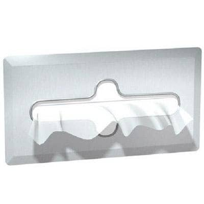 "ASI 02594-B Commercial Facial Tissue Box Dispenser, 11-7/8"" L x 6-3/8"" H x 4"" D, Recessed-Mounted, Stainless Steel - TotalRestroom.com"