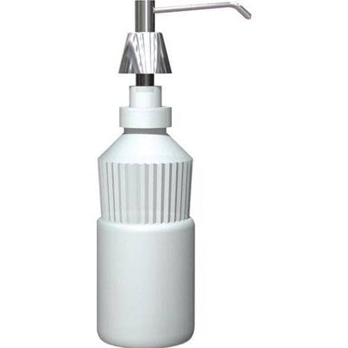 "ASI 0332 Commercial Foam Soap Dispenser, Countertop Mounted, Manual-Push, Stainless Steel - 4"" Spout Length - TotalRestroom.com"