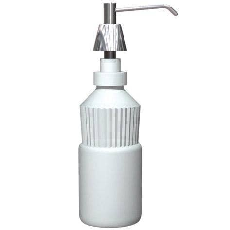 "ASI 0332-C Commercial Foam Soap Dispenser, Countertop Mounted, Manual-Push, Stainless Steel - 4"" Spout Length - TotalRestroom.com"