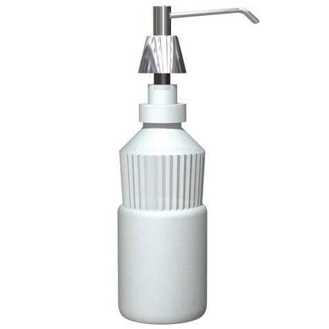 "ASI 0332-CD Commercial Foam Soap Dispenser, Countertop Mounted, Manual-Push, Stainless Steel - 6"" Spout Length - TotalRestroom.com"
