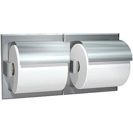 ASI 74022-S-W Commercial Toilet Paper Dispenser, Recessed-Mounted, Stainless Steel w/ Satin Finish - TotalRestroom.com