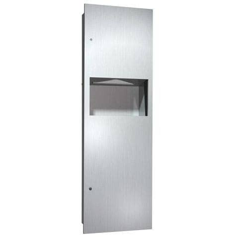 ASI 6462 Combination Commercial Paper Towel Dispenser/Waste Receptacle, Recessed-Mounted, Stainless Steel - TotalRestroom.com