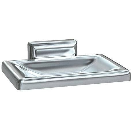 ASI 0720-Z, Soap Dish w/Drain Holes, Surface-Mounted, Chrome Plated Zamak - TotalRestroom.com