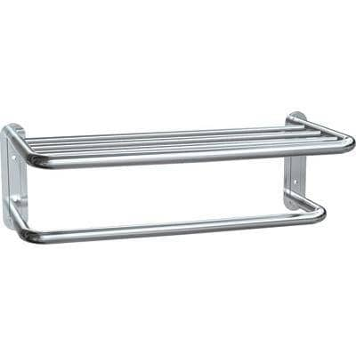 "ASI 7311-20B, Towel Shelf w/Drying Rod, 3/4"" Diameter x 20"" Length, Stainless Steel w/ Bright-Polished Finish - TotalRestroom.com"
