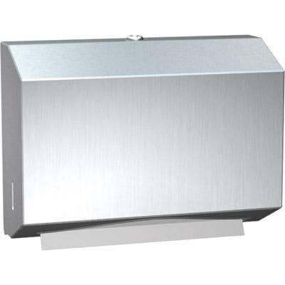 ASI 0215 Commercial Paper Towel Dispenser, Surface-Mounted, Stainless Steel - TotalRestroom.com