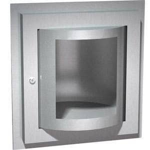 "ASI 0515 Commercial Turntable Specimen Pass Box, 5-7/8"" W x 10-7/16"" H x 10"" D, Recessed-Mounted, Stainless Steel w/ Satin Finish - TotalRestroom.com"