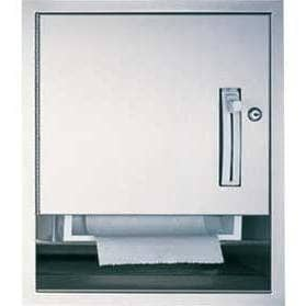 ASI 04523-9 Commercial Paper Towel Dispenser, Recessed-Mounted, Stainless Steel - TotalRestroom.com