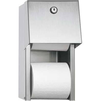 ASI 0030 Commercial Toilet Paper Dispenser, Surface-Mounted, Stainless Steel w/ Satin Finish - TotalRestroom.com
