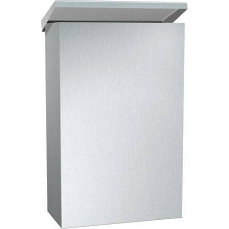 "ASI 0852-SH Commercial Restroom Sanitary Napkin Disposal w/ Shelf, Surface-Mounted, 7-7/8"" W x 9-11/16"" H x 4"" D Stainless Steel-Total Restroom"