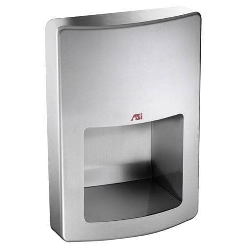 ASI 20199 Automatic Energy Efficient Hand Dryer, 110-120 Volt, Recessed-Mounted, Stainless Steel - TotalRestroom.com